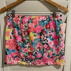 Billabong floral mini skirt size 10
